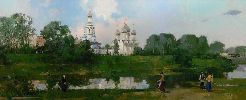 Вологда летняя. х.м. 40х100см. 2013г.