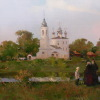 Вологда осенняя. х.м. 40х100см. 2013г.