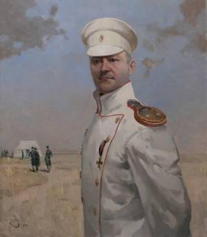 Портрет Громоава А.В. 70х60см. х.м. 2012г.