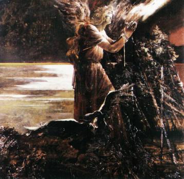 Последний потоп. Триптих. Прав. 1992г. 90х90см. х.м.