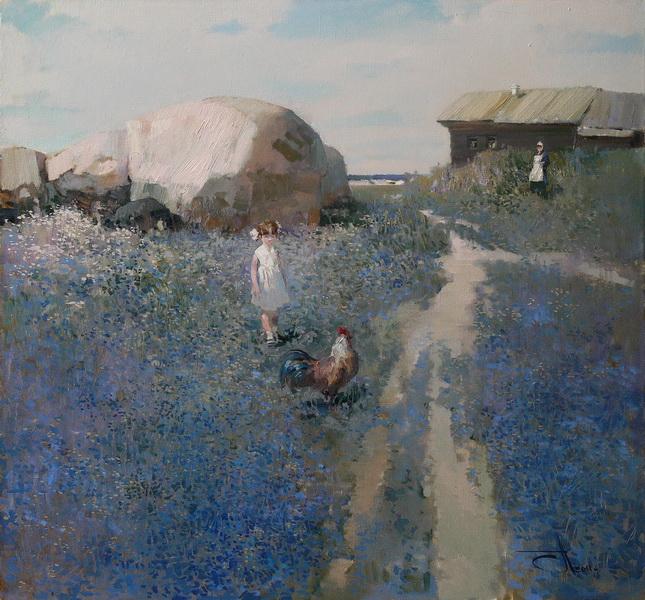 Лето в деревне. х.м. 70х70см. 2011г.