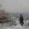 Начало зимы. 2009г. 40х100см. х.м.