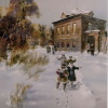 Зимний праздник 1995г. х.м. 90х90см.
