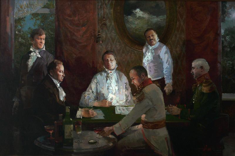 Игроки в покер.2009г.70х120см. х.м.