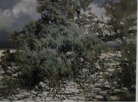 Белая ночь. 1997г.х.м.60х90см.