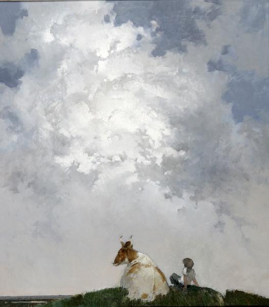 На земле и небесах 2004г. х.м. 90х70см.