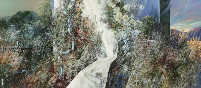 Травы. 1989г. 40х100см. х.м. Центр.