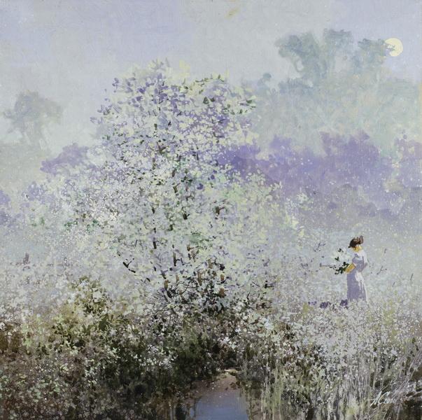 Лунный сад.2004г. 70х70см. х.м.