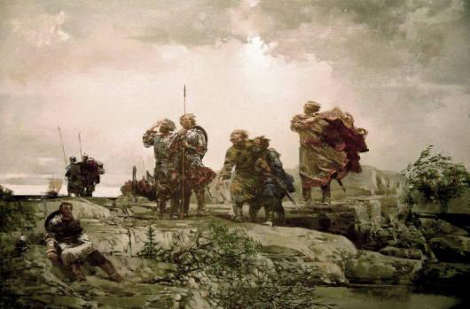 После бури. 1997г. 100х140см. х.м. овместно с М.Копьевым