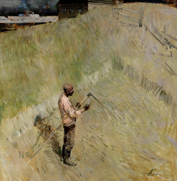 Переселенец 2006г. х.м. 70х70см.