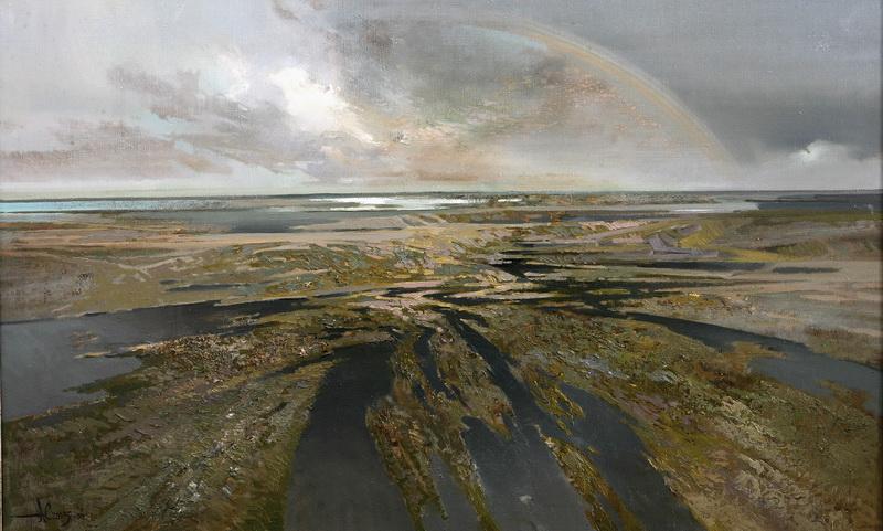 Над горизонтом 2005-06г. х.м. 70х120см.