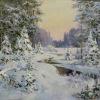 Зимний лес.2006г. 60х90см. х.м.