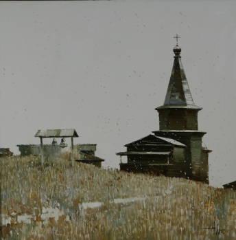 Первый снег. 2007г. 70х70см. х.м.