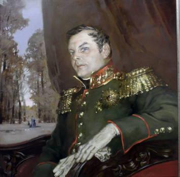 Портрет ретро. 2000г. 70х70см. х.м. Совместно с М. Копьевым